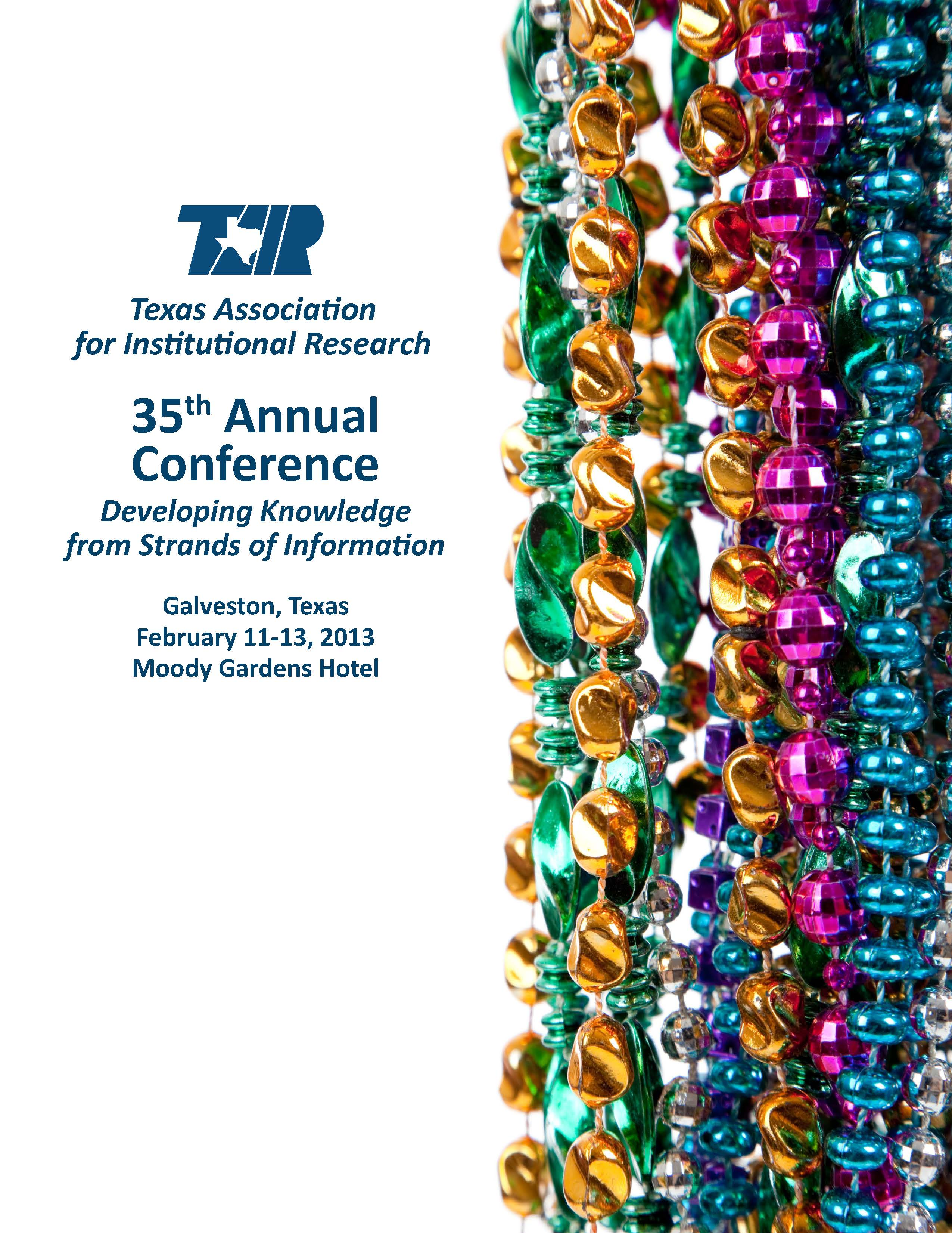 TAIR 2013 conference flyer image